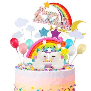 Décoration de gâteau licorne d'anniversaire
